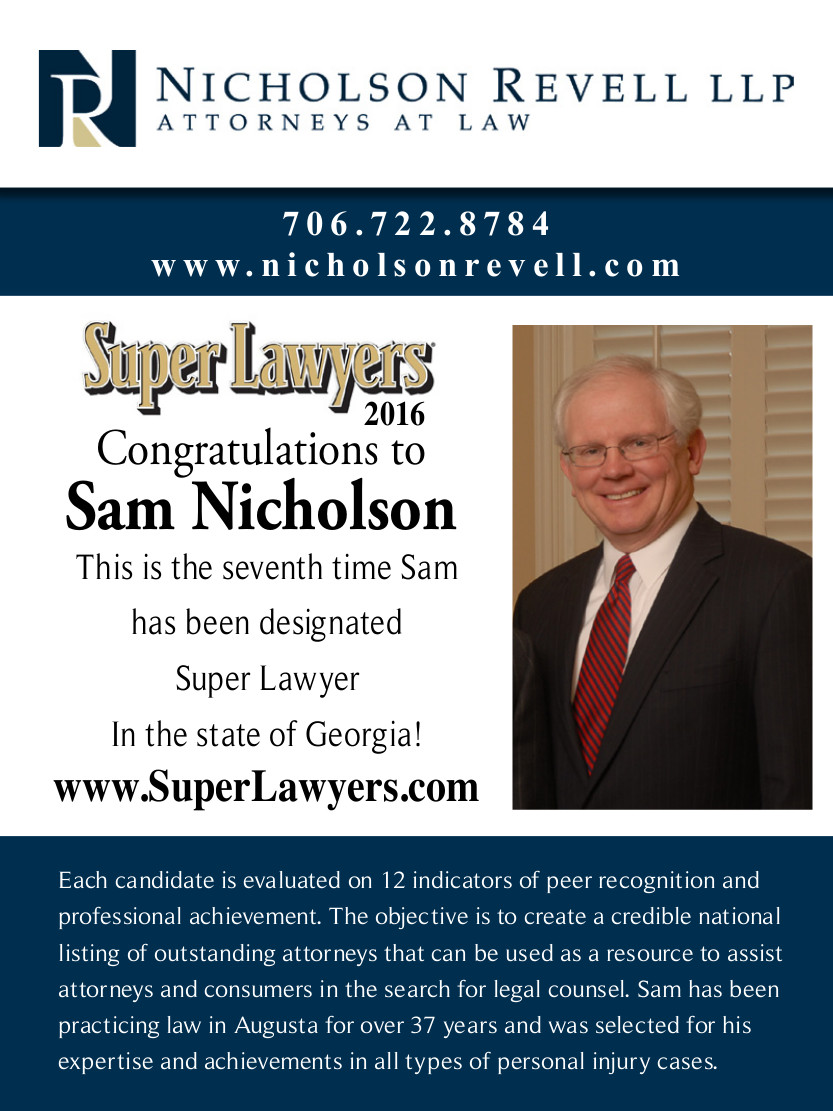 Congratulations to Sam Nicholson